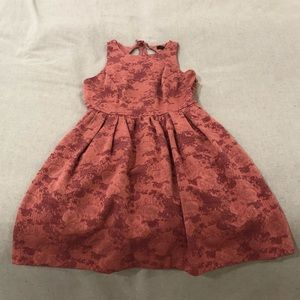 Coral Dress with Keyhole Back